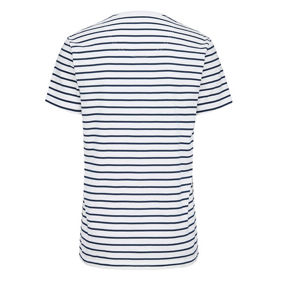 STRIPE F T-SHIRT  WHITE/NAVY  hi-res
