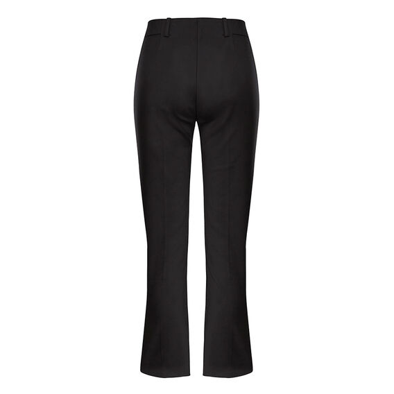 BOOT-CUT GLASS STRETCH PANT  BLACK  hi-res