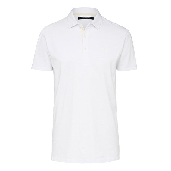 COTTON SLUB TEXTURED POLO  VINTAGE WHITE  hi-res