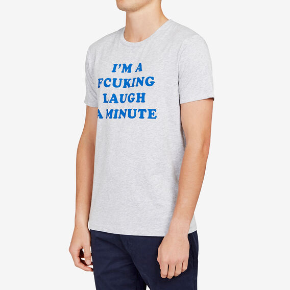 LAUGH A MINUTE T-SHIRT  GREY MELANGE  hi-res