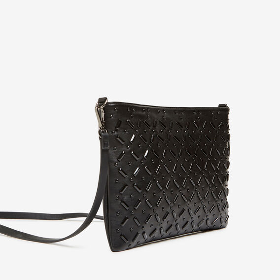 JEWELLED CLUTCH  BLACK  hi-res