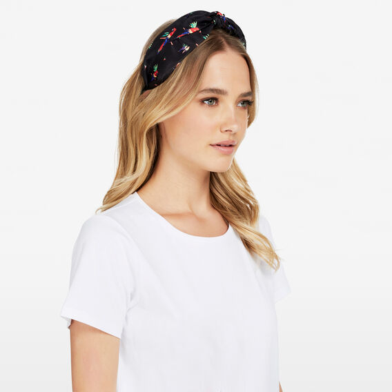 TROPICAL PARROT PRINTED HEADBAND  MULTI  hi-res