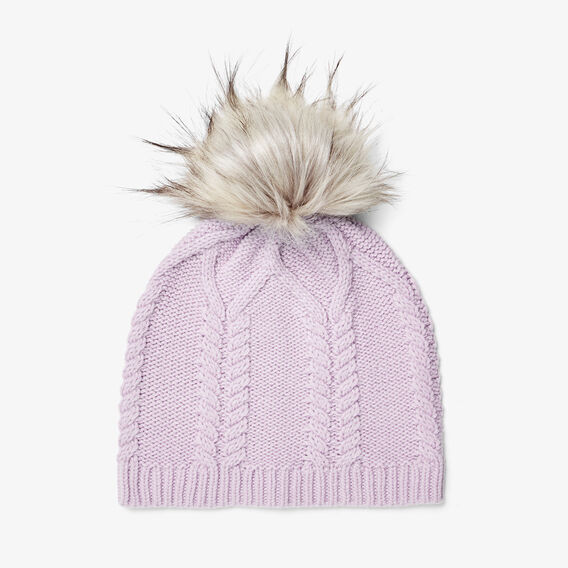 CABLE POM BEANIE  LILAC  hi-res