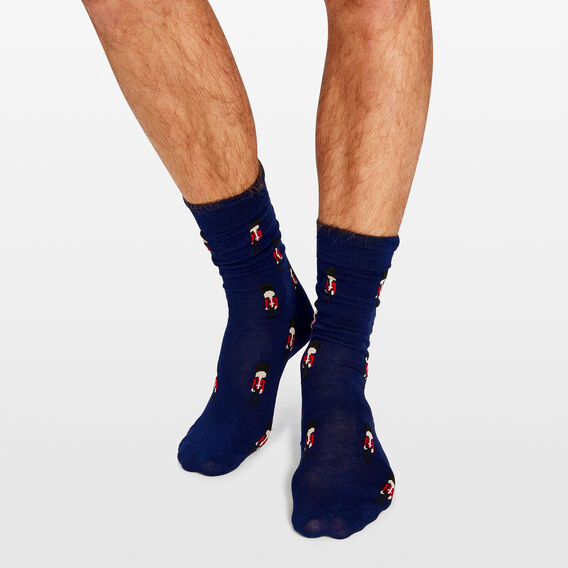BEEFEATERS 1PK SOCKS  ROYAL BLUE  hi-res