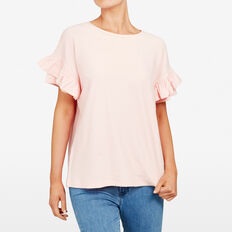 CUBAN TEXTURED TEE  LIGHT PINK  hi-res