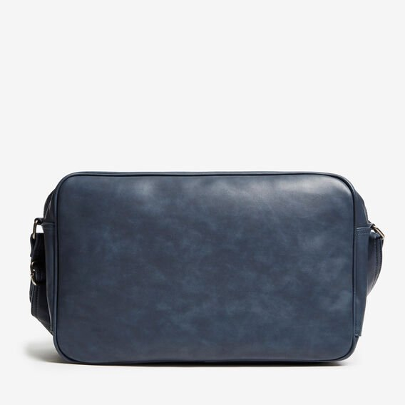 NAVIGATOR LEATHER LOOK MESSENGER  NAVY  hi-res