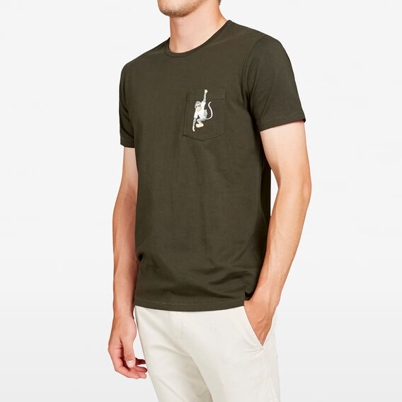 MONKEY POCKET T-SHIRT  PINE GREEN  hi-res