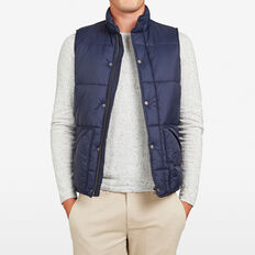 BOSTON PUFFER VEST  OXFORD BLUE  hi-res