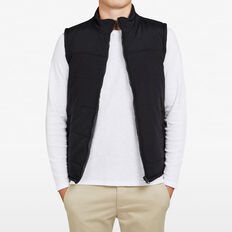 REVERSIBLE PUFFER VEST  BLACK/CHARCOAL  hi-res