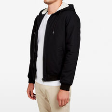 HOODED SHERPA BOMBER  BLACK  hi-res