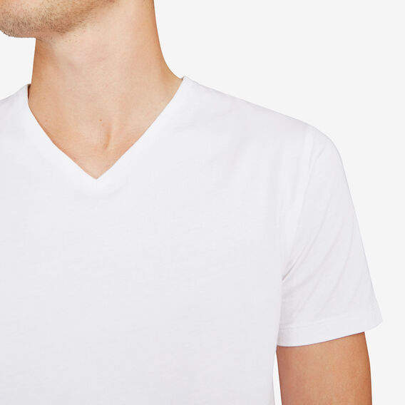 CLASSIC V NECK T-SHIRT  WHITE  hi-res