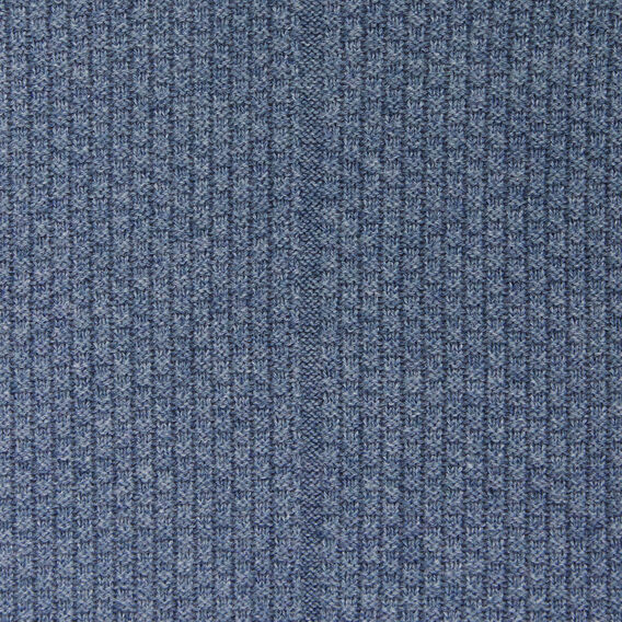 COLLEGE WAFFLE CREW NECK KNIT  DUSK BLUE MARLE  hi-res
