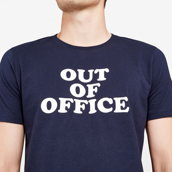 OUT OF OFFICE CREW NECK T-SHIRT  MARINE BLUE  hi-res