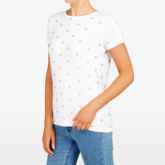 FOIL SPOT TEE  SUMMER WHITE/GOLD  hi-res