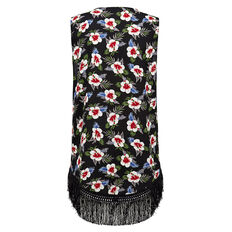 TROPICAL FLORAL VEST  BLACK/MULTI  hi-res