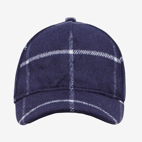 WOOL BLEND CHECK CAP  OXFORD BLUE  hi-res