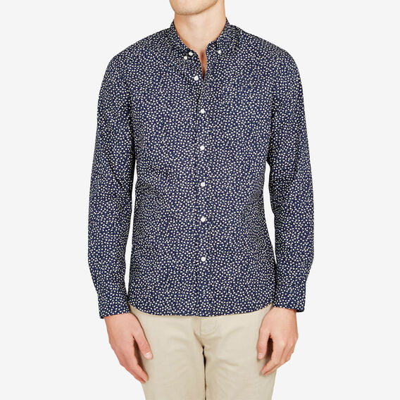 SPRING BREAK FLORAL SLIM FIT SHIRT  MARINE BLUE  hi-res