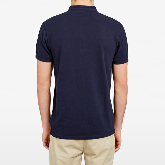 COLLARLESS POLO  MARINE BLUE  hi-res