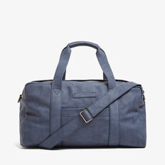 LEATHER LOOK DUFFLE BAG  OXFORD BLUE  hi-res
