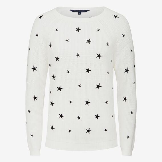 STAR GAZING KNIT  SUMMER WHITE/BLACK  hi-res
