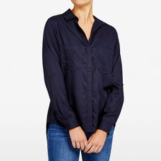 AUTUMN BUTTON THROUGH SHIRT  NOCTURNAL  hi-res