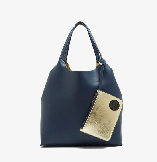 REVERSIBLE TOTE  NAVY/MARYGOLD  hi-res