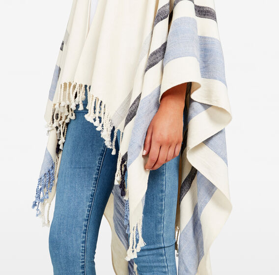 ALL DAY PONCHO  NATURAL/MULTI  hi-res