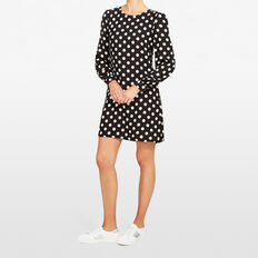 GIANT SPOT SHIFT DRESS  BLACK/SUMMERWHITE  hi-res