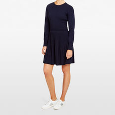 PLEAT FIT & FLARE DRESS  NOCTURNAL  hi-res