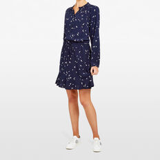 DITSY BIRD SHIRT DRESS  NOCTURNAL/SUMMER WHI  hi-res
