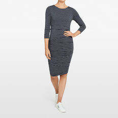 BODYCON STRIPE DRESS  NOCTURNAL/GREY MARLE  hi-res