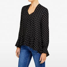 AUTUMN SPOT BLOUSE  BLACK/SUMMER WHITE  hi-res