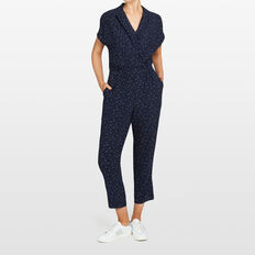 MINI STAR PRINT JUMPSUIT  NAVY/SUMMER WHITE  hi-res