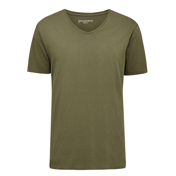 CLASSIC V NECK T-SHIRT  MOSS GREEN  hi-res
