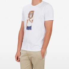 HIPSTER LION T-SHIRT  WHITE  hi-res