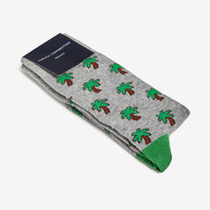 PALM TREE 1PK SOCKS  GREY MARL  hi-res