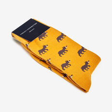 BEARS 1PK SOCKS  YELLOW  hi-res