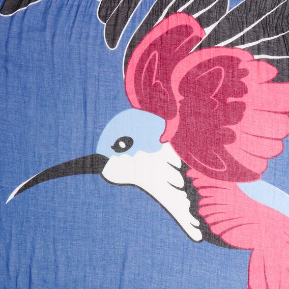 TWIN HUMMINGBIRD SCARF  BLUE MULTI  hi-res