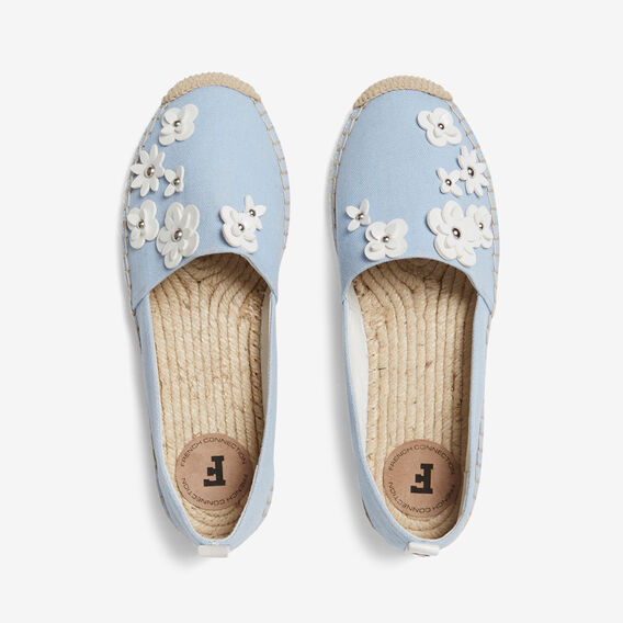 FLORAL ESPADRILLE  LIGHT BLUE  hi-res