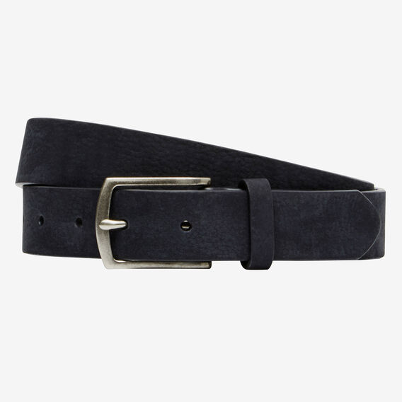THIN SUEDE LEATHER BELT  NAVY  hi-res