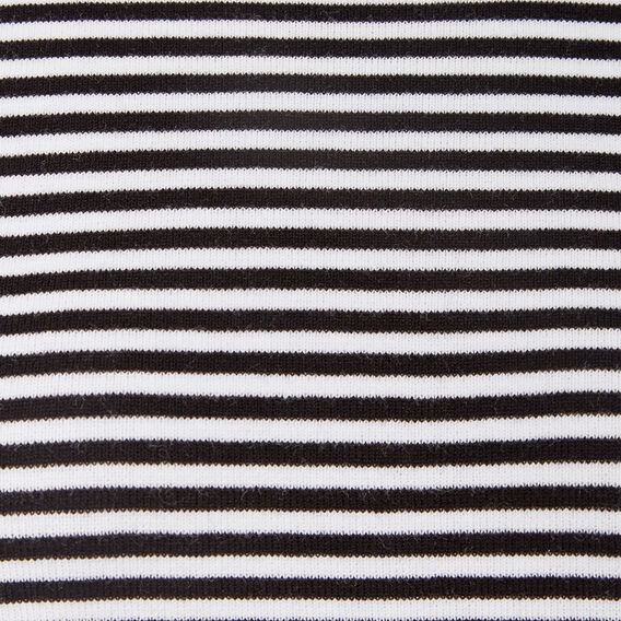 STRIPE FLUTTER SLEEVE KNIT  SUMMER WHITE/NOCTURN  hi-res