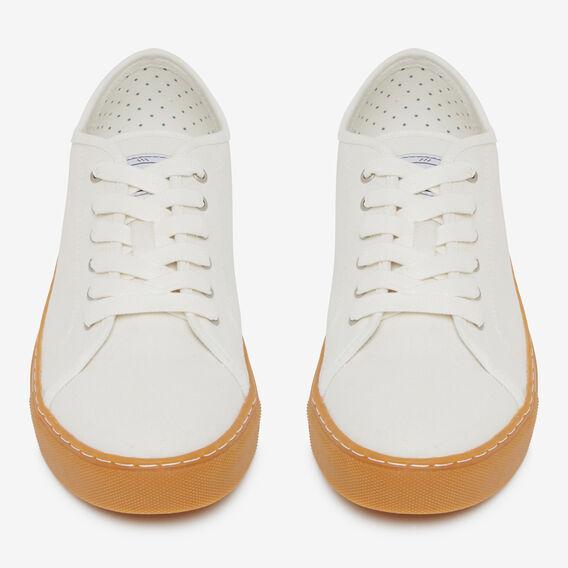 WHITE COMPASS COTTON SNEAKER  OFF WHITE / GUM  hi-res