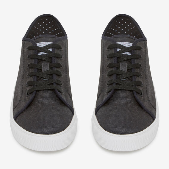 BLACK COMPASS COTTON SNEAKER  BLACK/WHITE  hi-res