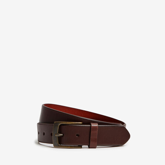 SINCLAIR RUSTIC LEATHER BELT  DARK TAN  hi-res