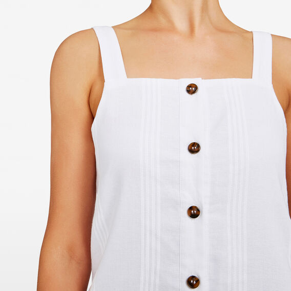 TIE SHOULDER DRESS  SUMMER WHITE  hi-res