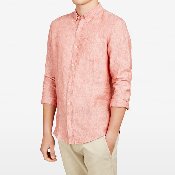 LINEN REGULAR FIT SHIRT  SHERBERT  hi-res