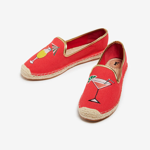 COCKTAIL ESPADRILLES  RED/MULTI  hi-res