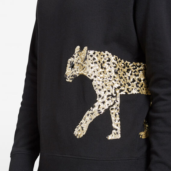 RUN WILD LEOPARD TEE  BLACK MULTI  hi-res