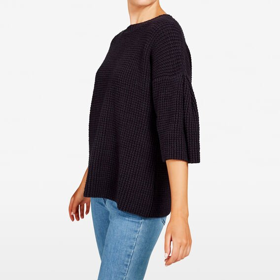 BELL SLEEVE WAFFLE KNIT  NOCTURNAL  hi-res