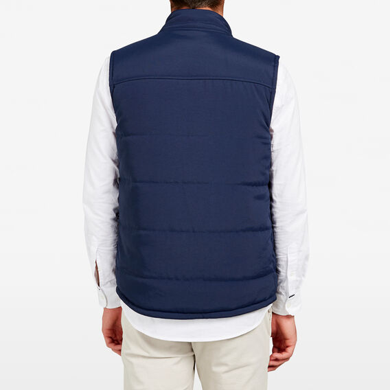 REVERSIBLE PUFFER VEST  NAVY/MILITARY GREEN  hi-res